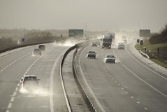 A421 nära Bedford England UK Arkivfoto