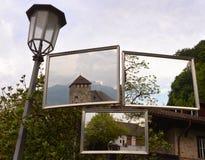 Nära den Gutenberg slotten i Vaduz Liechtenstein Royaltyfri Foto