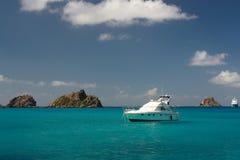 Nära den karibiska ön Arkivfoton