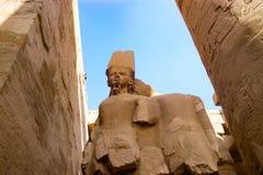 Nära fördärvar i luxor, Egypten Arkivfoton