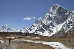 Nära Lobuche Nepal Arkivbilder