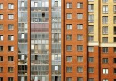 Nära sikt på residental byggnad Arkivbild
