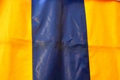 Nära upp detaljerad sikt på plast- folie och plast- yttersidor i hög upplösning royaltyfri bild