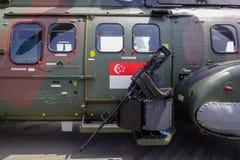 Närbild av attackhelikoptern arkivbild
