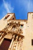 Närbild av basilikan de Santa Maria Alicante Arkivbilder