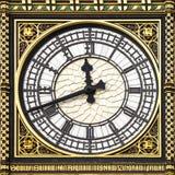 Närbild av Big Ben, klockatorn, Westminster Pala Arkivbilder