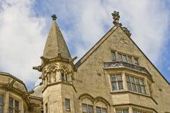 Närbild av Bradford Town Hall som är västra - yorkshire, UK Arkivbild