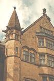 Närbild av Bradford Town Hall som är västra - yorkshire, UK Royaltyfria Bilder