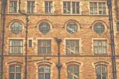 Närbild av Bradford Town Hall som är västra - yorkshire, UK Royaltyfria Foton