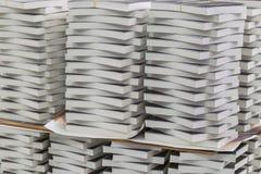 Närbild av bunten av böcker i branschen Arkivfoto