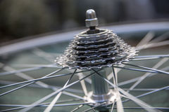 Närbild av cykelkugghjul Royaltyfri Fotografi