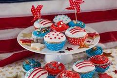 Närbild av dekorerade muffin Royaltyfri Foto