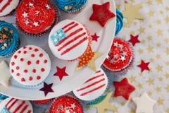 Närbild av dekorerade muffin Arkivbilder