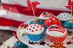 Närbild av dekorerade muffin Royaltyfri Bild