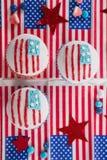 Närbild av dekorerade muffin Fotografering för Bildbyråer