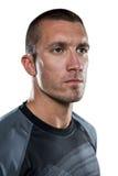 Närbild av den allvarliga rugbyspelaren som bort ser Royaltyfri Fotografi