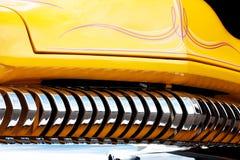 Närbild av den amerikanska tappningbilen, Front Detail fotografering för bildbyråer