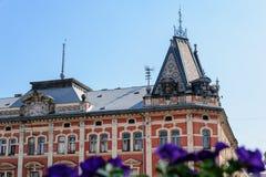 Närbild av den Andrassy slotten arkivfoton