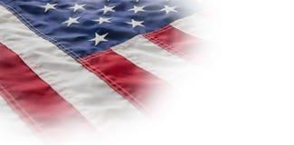 Närbild av den kantjusterade amerikanska flaggan Arkivbilder