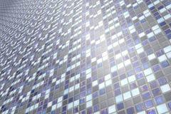 Närbild av den keramiska geometriska väggen Arkivbild