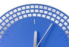 Närbild av den moderna klockan Arkivfoto