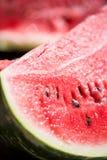 Närbild av den mogna watermelonen royaltyfri bild