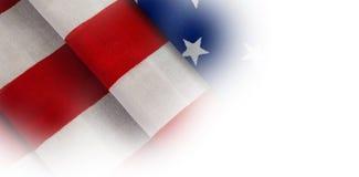 Närbild av den vikta amerikanska flaggan Royaltyfri Foto