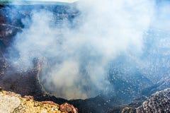 Närbild av den vulcan krater för Santiago Royaltyfri Bild