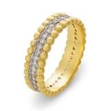 Närbild av det enkla guld- armbandet med diamanter royaltyfri bild