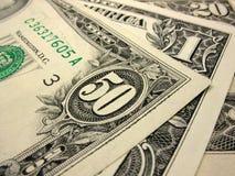 Närbild av dollar Arkivfoto