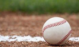 Närbild av en baseball Fotografering för Bildbyråer