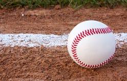 Närbild av en baseball Arkivbild