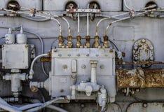 Närbild av en gammal motor Fotografering för Bildbyråer