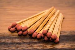Närbild av en röd matchstick Royaltyfri Foto