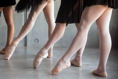 Närbild av en ung balett arkivbilder