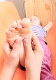 Närbild av en ung kvinna som får Spa behandling Fotografering för Bildbyråer