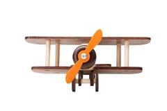 Närbild av envänskapsmatch produkt för lekar för barn` som s isoleras på en vit bakgrund Ett framkallande leksakflygplan Royaltyfri Foto