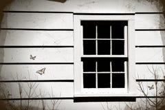Närbild av ett gammalt fönster royaltyfri bild