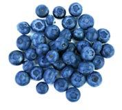Närbild av ett saftigt, healthful och smakligt blåbär som isoleras på en vit bakgrund Sommarfrukter, bästa sikt Organisk hög av b royaltyfri bild