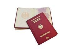 Närbild av ett tyskt pass royaltyfri foto