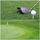 Närbild av golfklubben Arkivfoto