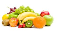 Närbild av högen av frukt royaltyfria foton