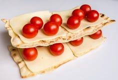 Närbild av ingredienser för lasagner Royaltyfri Bild