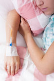 Närbild av kemoterapi Royaltyfri Fotografi