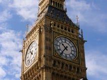 Närbild av klockaframsidan av Big Ben, London arkivbild