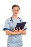 Närbild av kvinnligt le för doktorssjuksköterska Royaltyfria Bilder