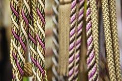 Närbild av mångfärgade rep Arkivfoto
