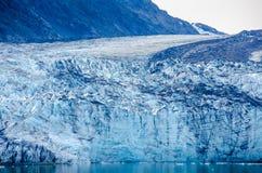 Närbild av Margerie Glacier i Alaska Royaltyfri Bild