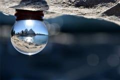 Närbild av marmor med reflexion Arkivfoton