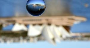 Närbild av marmor med reflexion arkivfoto